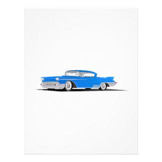 EL 1958 de Cadillac Dorado Tarjetas Publicitarias