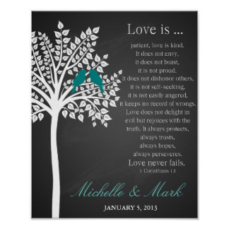 el 1r amor del aniversario de boda es corinthains póster