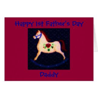 El 1r día de padre feliz, papá felicitación