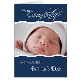 El 1r día del padre del abuelo - tarjeta de la