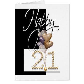 El 21ro cumpleaños feliz hincha divertido tarjeta de felicitación