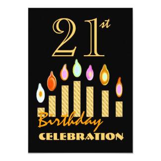el 21ro o cualquier oro del cumpleaños del año comunicados