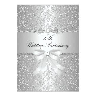 El 25to aniversario del damasco y de boda del arco invitación 12,7 x 17,8 cm