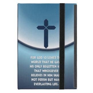 El 3:16 de Juan para dios amó tan el mundo Funda Para iPad Mini