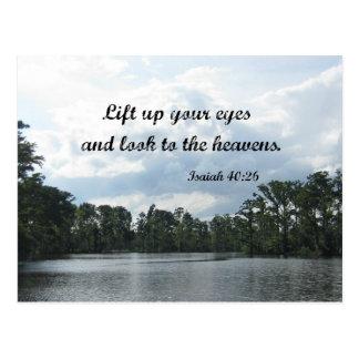 El 40:26 de Isaías levanta para arriba sus ojos… Postal