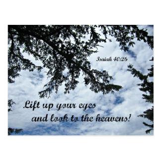 El 40:26 de Isaías levanta para arriba sus ojos y Postal