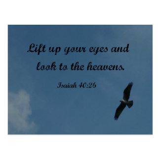 El 40:26 de Isaías levanta para arriba sus ojos y Postales