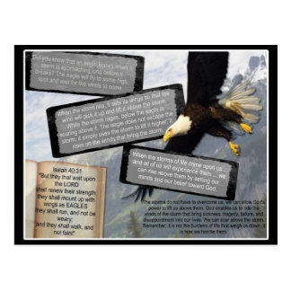 EL 40:31 DE ISAÍAS MONTA PARA ARRIBA CON LAS ALAS  POSTALES