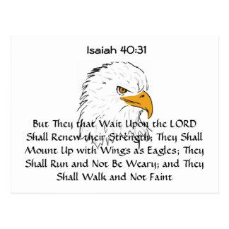 El 40:31 de Isaías monta para arriba en las alas d Tarjeta Postal