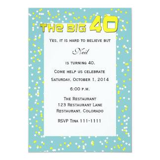 """""""El 40"""" GRANDE 40.a invitación del cumpleaños"""