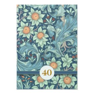 el 40.o aniversario de boda invita invitación 12,7 x 17,8 cm