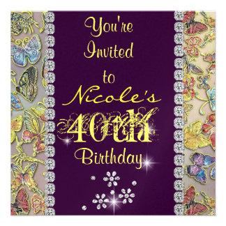 el 40 o cumpleaños de las mujeres PÚRPURAS del inv Comunicado Personalizado