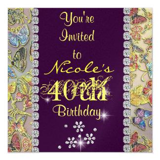 el 40.o cumpleaños de las mujeres PÚRPURAS del Comunicado Personalizado