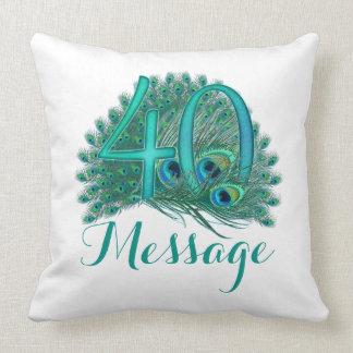 El 40.o cumpleaños personalizado añade la almohada