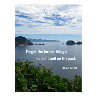 El 43:18 de Isaías olvida las cosas anteriores; no Postal