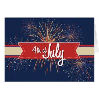 el 4 de julio Card#4 Tarjeta De Felicitación