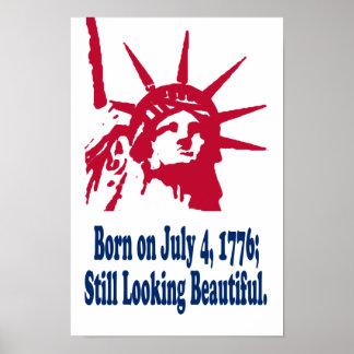 El 4 de julio de 1776 impresión llevada
