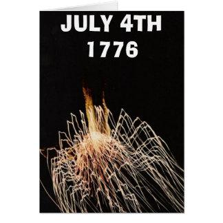 , EL 4 DE JULIO DE 1776 TARJETA DE FELICITACIÓN