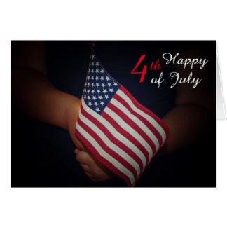 """el 4 de julio estándar (5"""" x 7""""), sobres blancos tarjeta de felicitación"""