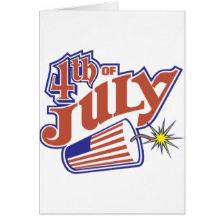 el 4 de julio tarjeta