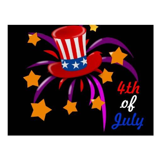 el 4 de julio postales