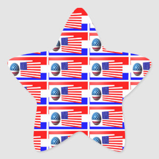 El 4to del pegatina de la estrella de JULIO