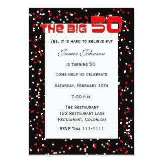 """""""El 50"""" GRANDE 50.a invitación del cumpleaños en"""