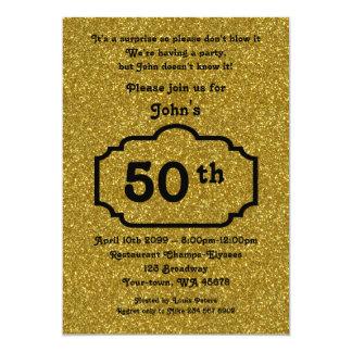 el 50.o, hombre del cumpleaños, hombre de fiesta, invitación 12,7 x 17,8 cm
