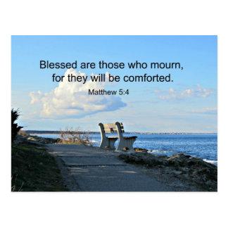 El 5:4 Blessed de Matthew es los que están de luto Tarjeta Postal