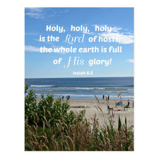 El 6:3 de Isaías santo, santo, santo es el señor Postal