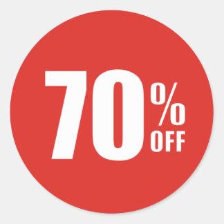 El 70% el setenta por ciento del pegatina de la