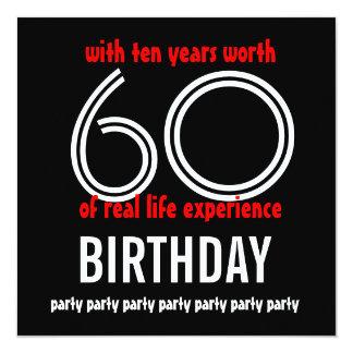 El 70.o cumpleaños divertido 60 diez años invitación