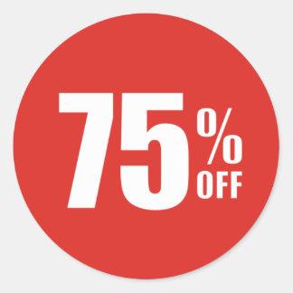 El 75% el setenta y cinco por ciento del pegatina