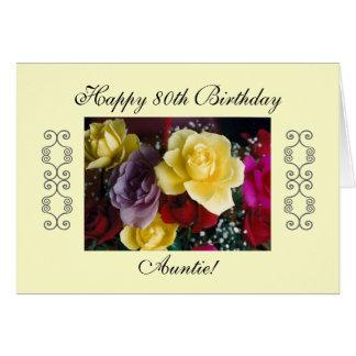 El 80.o cumpleaños de la tía tarjeta de felicitación