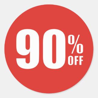 El 90% el noventa por ciento del pegatina de la