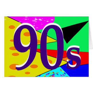 El 90s de Sharnia tarjeta de felicitación del `'