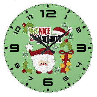 El 98% Niza el 2% travieso Reloj Redondo Grande
