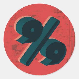 El 99 por ciento retro etiqueta redonda