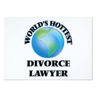 El abogado del divorcio más caliente del mundo invitación 12,7 x 17,8 cm