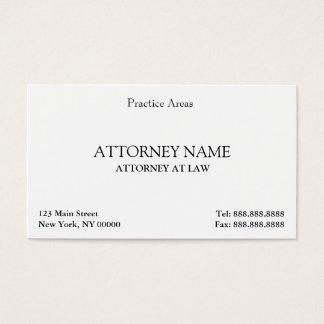 El abogado elegante limpia tarjeta de negocios
