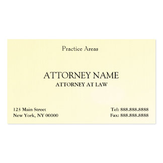El abogado elegante limpia tarjeta personal