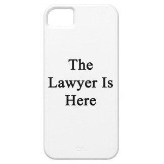 El abogado está aquí iPhone 5 Case-Mate protector
