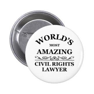 El abogado más asombroso de las derechas civiles d chapa redonda 5 cm