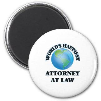El abogado más feliz en la ley del mundo imán redondo 5 cm