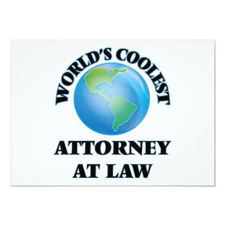el abogado MÁS FRESCO en ley de los mundos Invitación 12,7 X 17,8 Cm