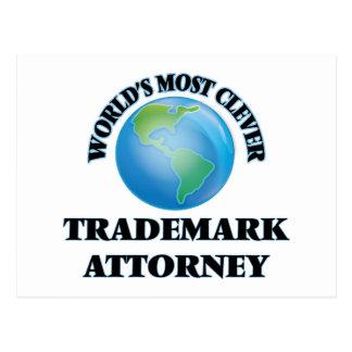 El abogado más listo de la marca registrada del tarjeta postal