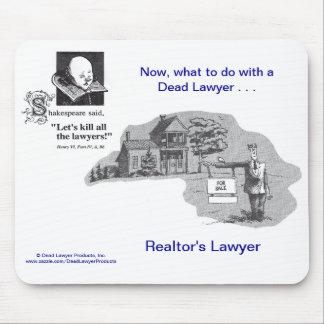 El abogado Mousepad del agente inmobiliario muerto Tapete De Ratón