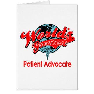 El abogado paciente más grande del mundo felicitación