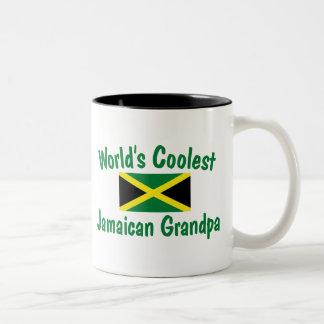 El abuelo jamaicano más fresco taza de dos tonos