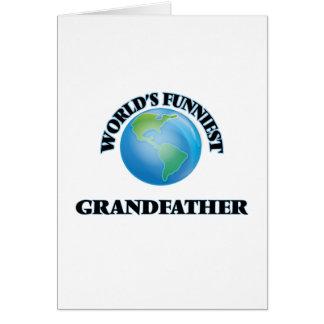 El abuelo más divertido del mundo tarjeta de felicitación